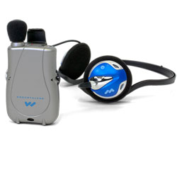 Pocketalker Ultra with Rear-Wear Headphones Price: $125.50