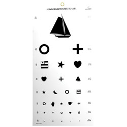 Kindergarten Eye Chart - click to view larger image