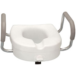 Raised Toilet Seat with Padded Armrest Price: $59.95