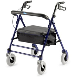 Invacare Value-Line Bariatric Rollator: Blue Price: $219.95