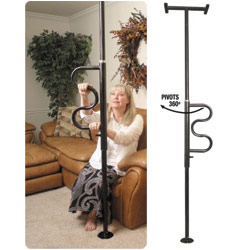 MaxiAids Standars Security Pole and Curve Grab Bar - Black (151102) at Sears.com