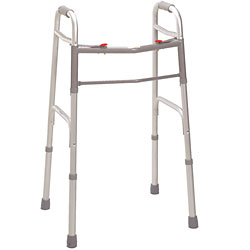 Two Button Deluxe Folding Walker - Adult Price: $59.95