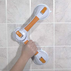 Multi-Position Suction Cup Grab Bar for Bath Safety Price: $32.95