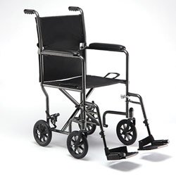 Invacare Tracer Transport Chair - 17-inch Wide Seat with Footrest Price: $169.95