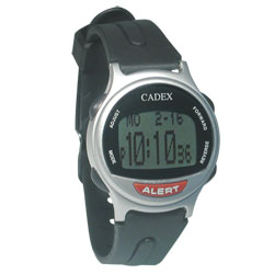 The e-pill Cadex 12 Alarm Medication Reminder Watch - Silver Price: $53.75