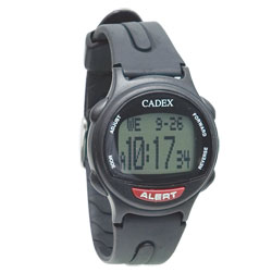 The e-pill Cadex 12 Alarm Medication Reminder Watch - Black - click to view larger image