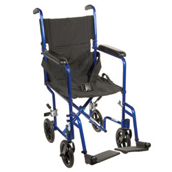 Drive Deluxe Lightweight Transport Chair- Blue Price: $119.95