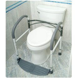 Foldeasy Portable Toilet Support Frame - click to view larger image