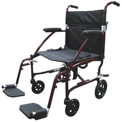 Drive Fly Lite Lightweight Transport Chair- Red Price: $199.95