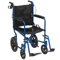 Drive Expedition Aluminum Transport Chair- Blue Price: $191.95