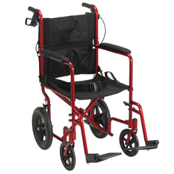 Drive Expedition Aluminum Transport Chair- Red Price: $191.95