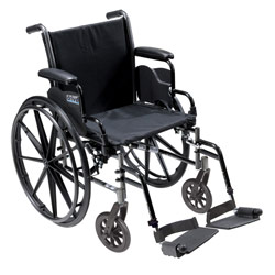Cruiser III Light Weight Wheelchair with Various Flip Back Arm Styles and Front Rigging Options Price: $259.95