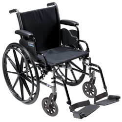 Cruiser III Light Weight Wheelchair with Various Flip Back Arm Styles and Front Rigging Options Price: $204.95