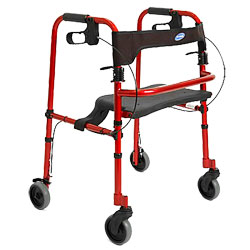 invacare Rollite Rollator Adult 4 Wheeled- Electric Red (1565100R) at Sears.com