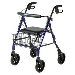 Economy Four Wheel Rollator with Basket and Tray Price: $129.95