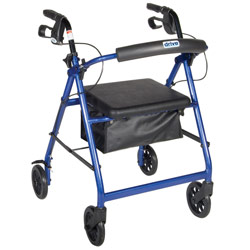 Aluminum Rollator - Blue, 4 Wheel, 6 inch Casters w Loop Lock Price: $99.95