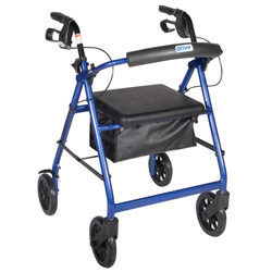 Aluminum Rollator - Blue, 4 Wheel, 8 inch Casters w Loop Lock Price: $99.00