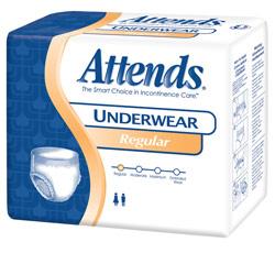 Attends Regular Absorbency Underwear- Large-72-cs Price: $45.95