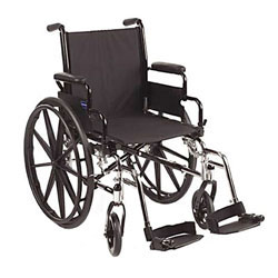 Invacare IVC Tracer EX2 Wheelchair with Legrest- BLUE 18 inch Seat Width - click to view larger image