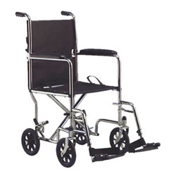 Invacare Transport Chair, 19-in with Footrest- Black Price: $179.95