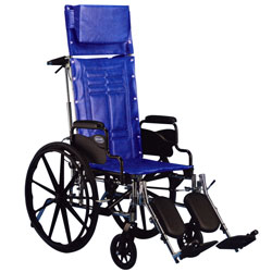 Invacare IVC Tracer SX5 Recliner w-Legrest- BLUE 18 in - click to view larger image