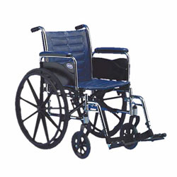 Invacare IVC Tracer SX5 Wheelchair w-Footrest- BLACK 18in Seat Width Flipback Price: $249.95