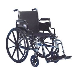 Invacare IVC Tracer SX5 Wheelchair w-Legrest- BLACK 18in Seat Width Flipback