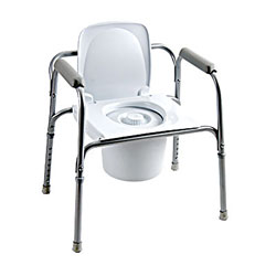 All-In-One Aluminum Commode with Back Price: $69.95
