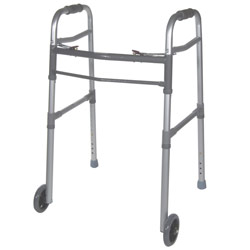 Universal Adult/Junior Folding Walker w/Wheels Price: $49.95