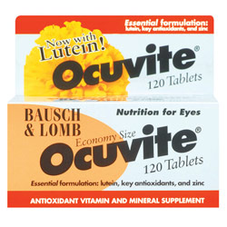 Ocuvite Lutein Eye Vitamins for Macular Degeneration -120 Tablets - click to view larger image