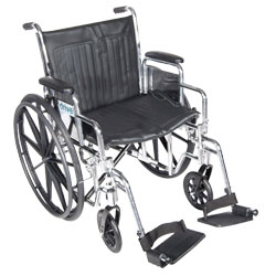 Chrome Sport 20-in Wheelchair-Full Arms-Footrests Price: $259.00