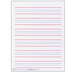 Raised Line Writing Paper - Red and Blue Lines -Package of 50 - click to view larger image