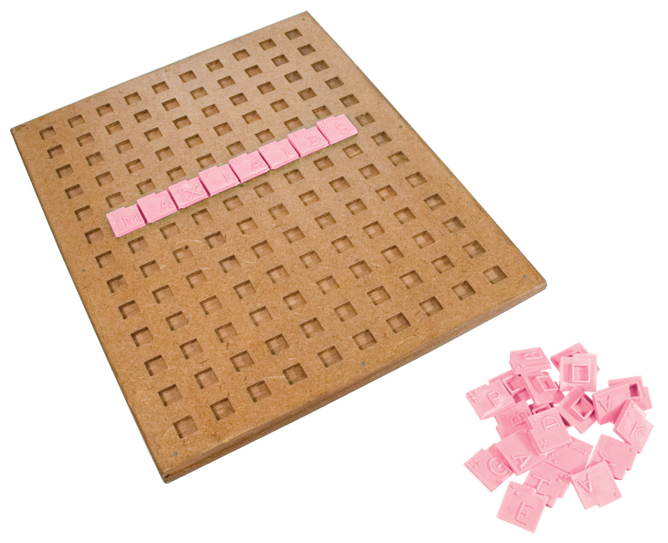 Tactile-Braille Crossword Puzzle Game - click to view larger image