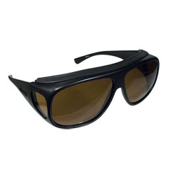 Fitovers Sunglasses - Aviator Black-Amber - Large Price: $59.95
