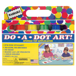 Do-A-Dot Art - 6 Sponge Tip Markers with Braille Price: $17.95