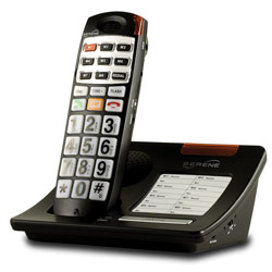 Serene HD 55dB Amplified Talking Cordless Big Button Phone Price: $139.95
