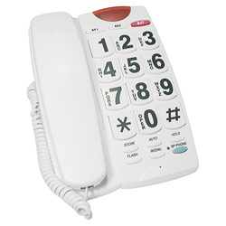 Big Button 40dB Amplified Speakerphone: White Price: $34.95