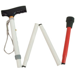 Adjustable Folding Support Cane f-t Blind 33-37-in Price: $19.95