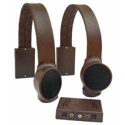 Audio Fox Wireless TV Listening Speakers - Dark Brown (400122) at Sears.com