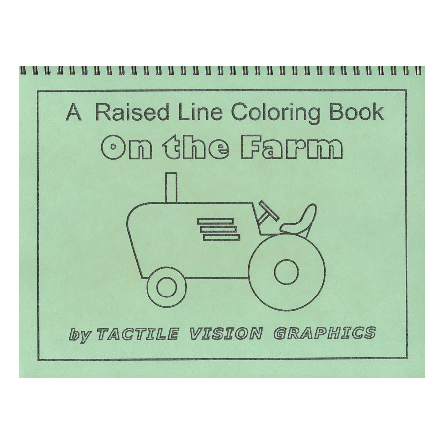 The Farm - Raised Line Coloring Book, Level 1 Price: $12.75