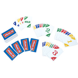 Reizen Braille Phase 10 Card Game for the Blind and Low Vision