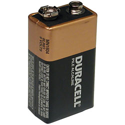 Duracell 9-Volt Battery - click to view larger image