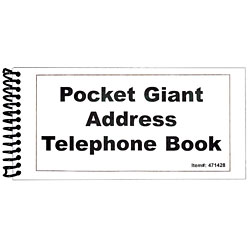 MaxiAids Pocket Large Print Address Book - 10 Pack (471436)