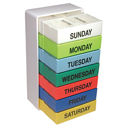 The Seven Day Color Pill Box - click to view larger image