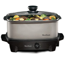 West Bend Oblong 5-Quart Slow Cooker Price: $55.95