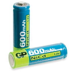 2 AA Ni-Cd Batteries