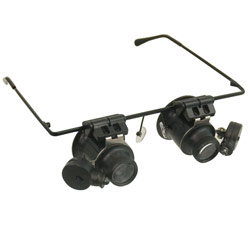 Hands-Free LED Illuminated 20x Loupe Magnifiers Price: $22.95