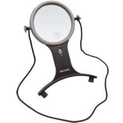 UltraOptix Lighted Hands-Free Magnifier: 2.5x with 6x Bifocal Price: $20.00