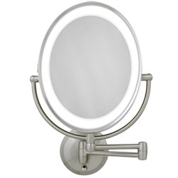 Zadro LED Lighted Wall Mount Oval Make-Up Mirror 10X-1X (607932) at Sears.com