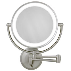 Zadro LED Lighted Wall Mount Round Make-Up Mirror 10X-1X (607933) at Sears.com
